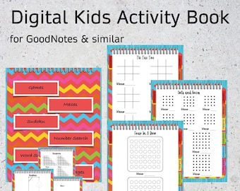 GoodNotes Digital Kids Activity Book   Pencil & Paper Games   Mazes   Sudoku   Word Search   Number Search   Blank Pages
