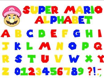 Mario buchstaben super Character Development