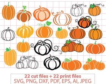 Pumpkins SVG, Swirly Pumpkin, bundle, Halloween, Haloween, Fall, autumn, cricut cut file  clipart clip art Silhouette FlexyCreatives vc-178