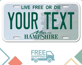 Custom Hampshire State License Plate NH Replica Auto Tag Any Text Personalized Novelty Sign