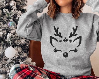 Soffe Womens Funny Ugly Christmas Sweater Raglan T-Shirt