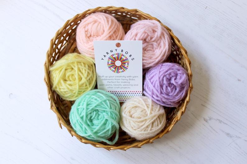 Weaving Kids Crafts Fibre Arts Crochet Crafts French Knitting Pom pom Kit UK Knit Toys Yarn Scraps 60g of Unicorn Yarn Oddments