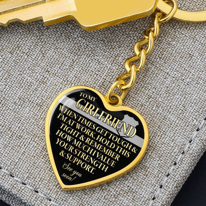 Correctional Officer Girlfriend Keychain
