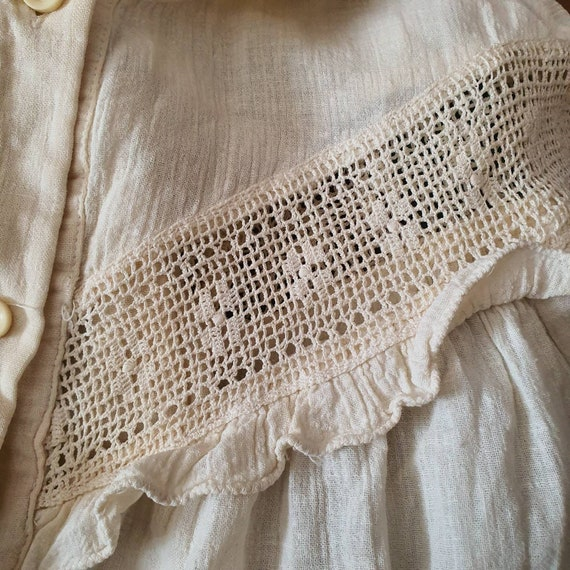Victorian embroidery vintage old style shirt