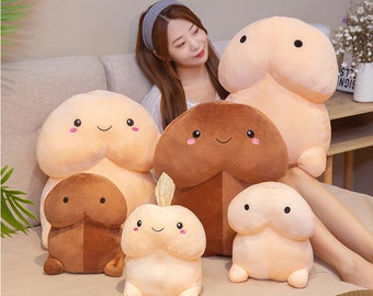 Lovely Penis Ding Ding Pillow Stuffed Plush Doll Toy Creative Bolster Gift