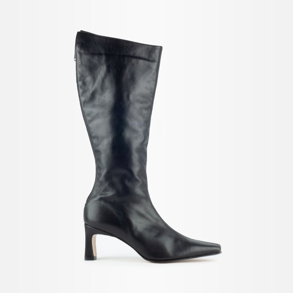 Leather Boots, Knee High Boots, Calf Boots, 90s Le