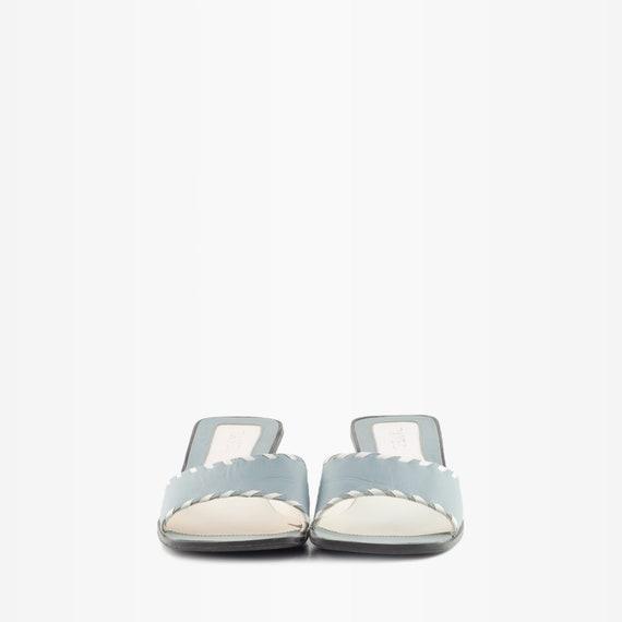 90s mules, y2k mules, square toe mules, block hee… - image 3