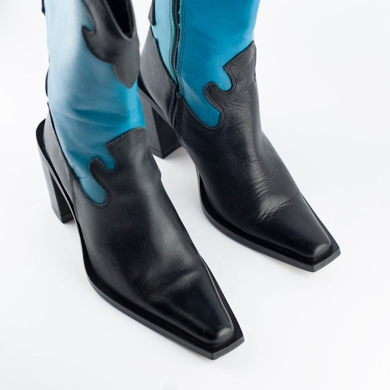 90s Boots, Cowboy Boots, Square Toe Boots, Wester… - image 3