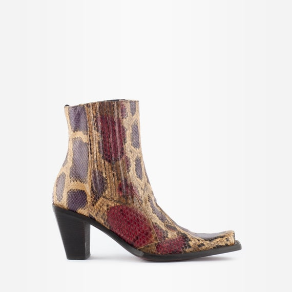 Cowboy Boots, Western Boots, Snakeskin Boots, Vint
