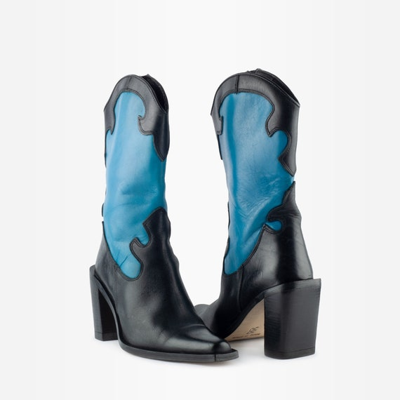90s Boots, Cowboy Boots, Square Toe Boots, Wester… - image 2