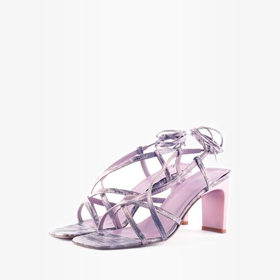 90s Heeled Sandals, 90s Sandals, Square Toe Sandal