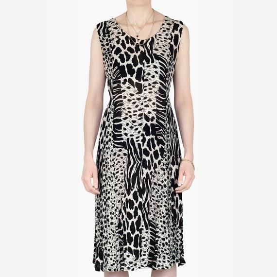 90s Animal Print Dress