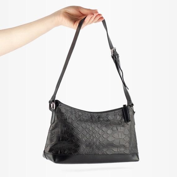 90s Bag, Y2K Bag, Mock Croc Bag, Baguette Bag, Vin