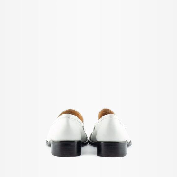 90s Loafers, Vintage Loafers, Vintage Leather Loa… - image 4