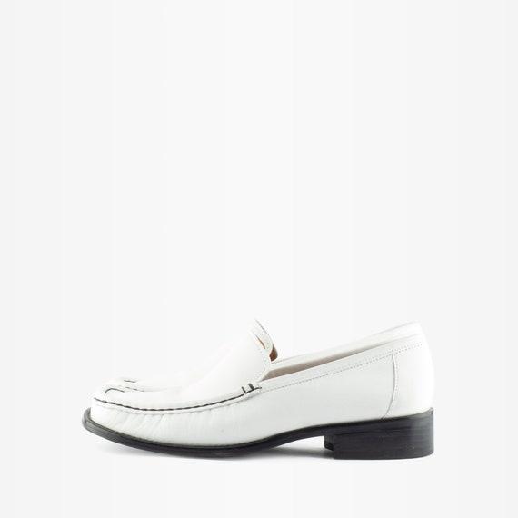 90s Loafers, Vintage Loafers, Vintage Leather Loa… - image 2