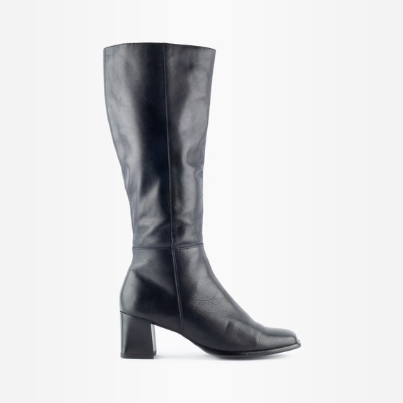 90s Knee High Boots, Knee High Boots, 90s Leather