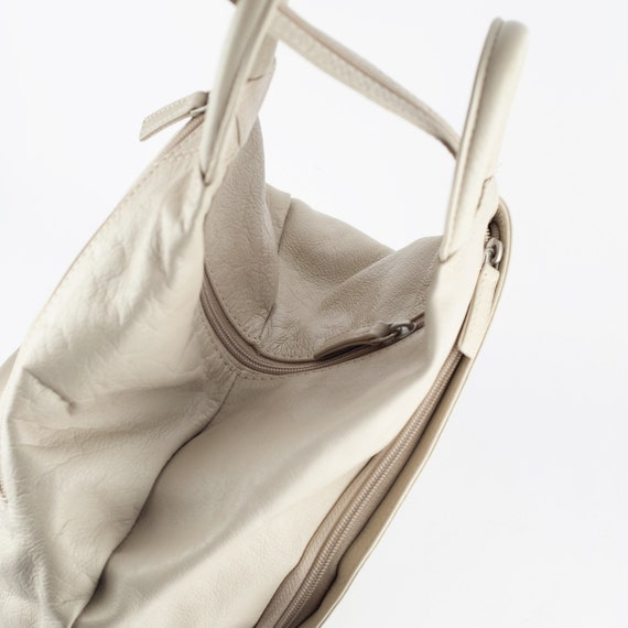 90s Leather Backpack, Vintage Leather Backpack, L… - image 3