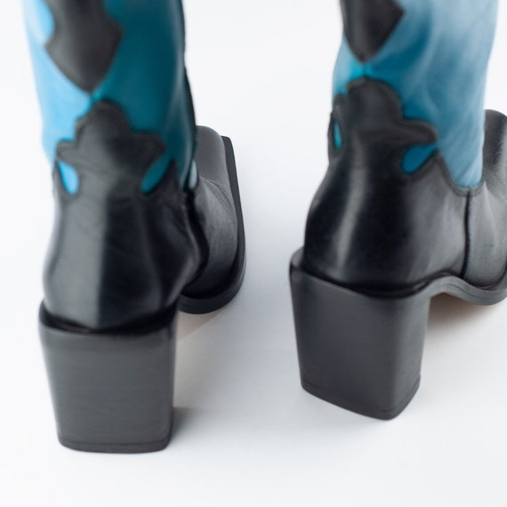 90s Boots, Cowboy Boots, Square Toe Boots, Wester… - image 4