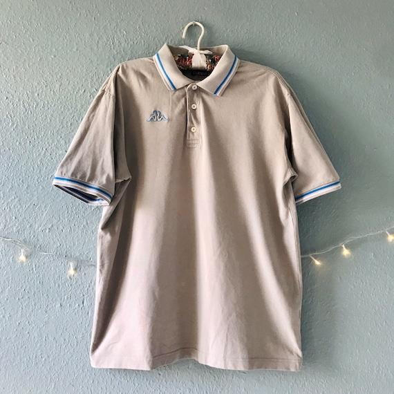 1990s Kappa polo shirt grey