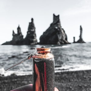 Sand from Iceland\u2019s Black Sand Beach in a Bottle