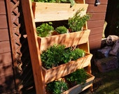 Vertical Scottish Larch Garden Ladder Planter - Locally and Sustainably Sourced Wood