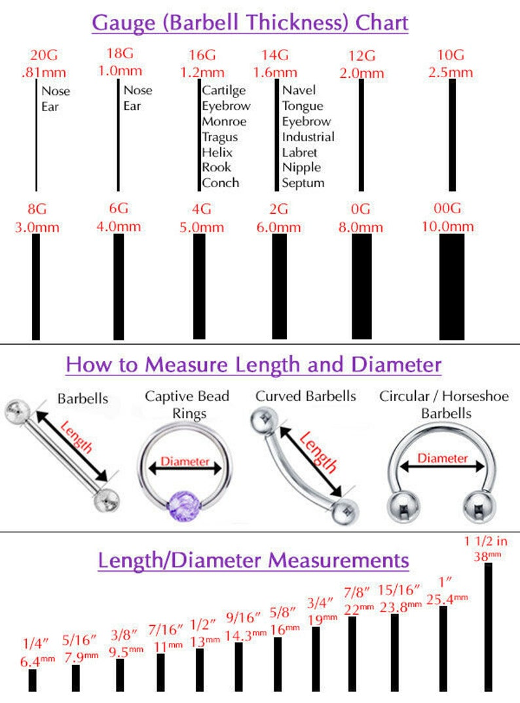 Black Onyx 14G Christina VCH Internally Threaded Piercing Curve Belly Ring Barbell Piercing 100/% Steel 14G 1.6mm