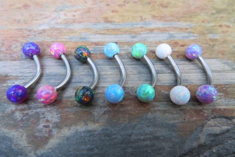 1.6mm Autumn Fire Opal Stone VCH Christina Belly Navel Ring Barbells Bars 14G Piercing Piercings