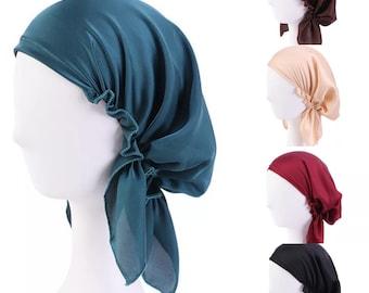 Women Bonnet Satin Wrap Home Satin/Silk Night Cap Sleeping Hat Hair Care