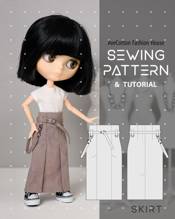 PDF pattern to make a dress for Blythe dolls.
