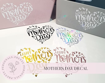 Vinyl Decal bottle Happy Mother/'s Day Can Personalise Nan Gran Step mum Frame