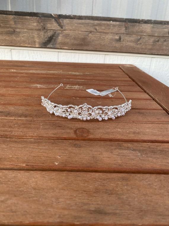 Handmade Tiara Swarovski Crystal Silver