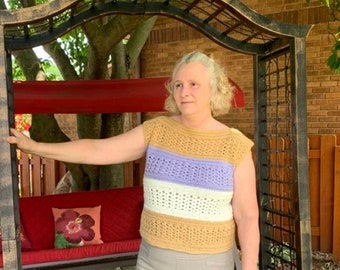 Layla Jane Top, Crochet Top Pattern, Crochet Garment Pattern