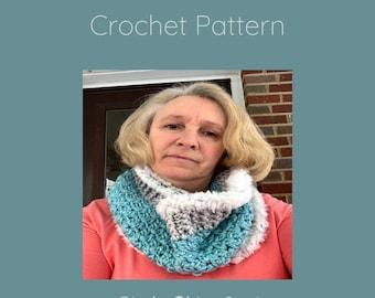Crochet Pattern, Crochet Cowl Pattern, Winter Accessory, Woman's Fashion Accessory, Glacier Ridge Cowl
