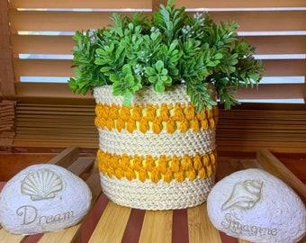 Crochet Plant Cozy, Crochet Pattern, Simply Beachy Plant Cozy, Crochet Cozy