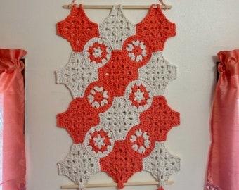Crochet Wall Hanging, Crochet Pattern, Granny Square Wall Hanging