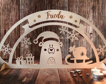 Christmas decoration windows, Schwibbogen child, Christmas gifts children, Decoration Christmas, Schwibbogen, Christmas decorations
