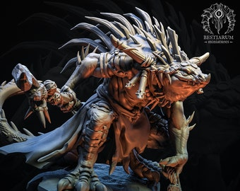 Shaman (Pose 2)   THE SEKHATON TRIBE   Bestiarum Miniatures   Dungeons and Dragons   Pathfinder   Painting