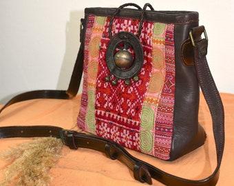 Leather bag ETHNIC Cross