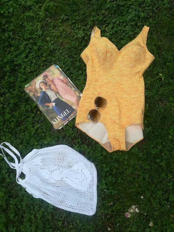 60s 70s Swimwear / Vintage Mod Swimsuit /  Mod Bul