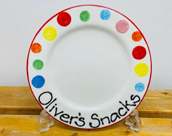 MULTICOLOUR Personalised Snack Plate