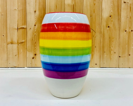 Rainbow Tall Curved Vase - 20% goes to NHS