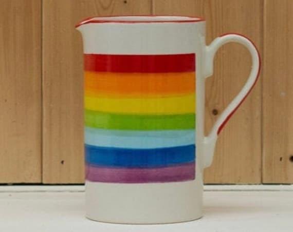 Rainbow Jug/Vase - 20% goes to NHS