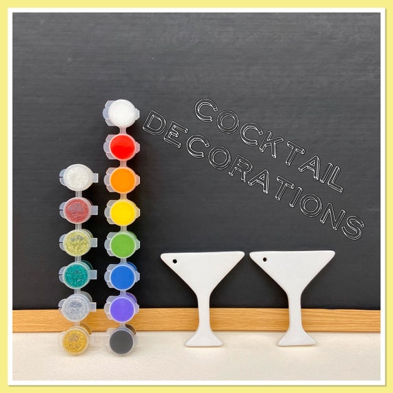 2 x Cocktail Decoration Acrylic Painting Kit
