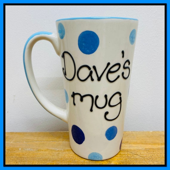 BLUE Personalised Latte Mug
