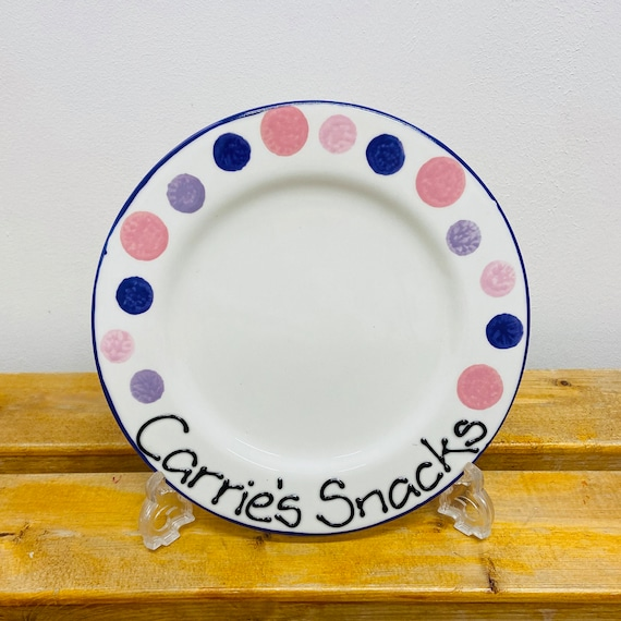 PINK & PURPLE Personalised Snack Plate