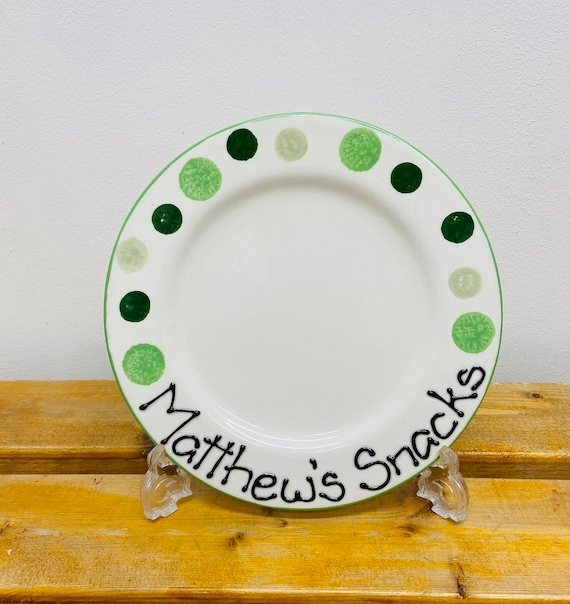 GREEN Personalised Snack Plate