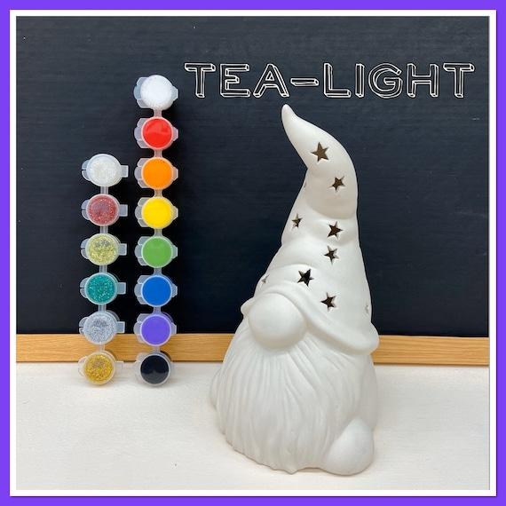 Large Gnome / Wizard Tea-light Acrylic Painting Kit