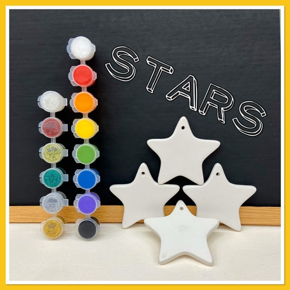 4 x Star Decorations Acrylic Painting Kit