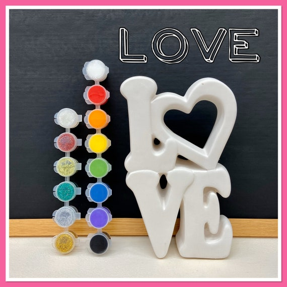 LARGE Free Standing LOVE Acrylic Painting Kit