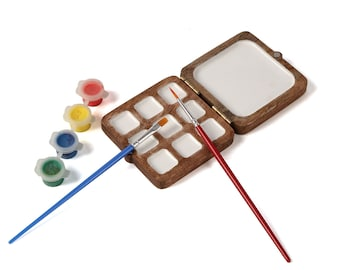 Colour Palette Portable for water colours / poster colours / for painting (Mini) , Gift for Painters, Gift for artist, Gift for husband